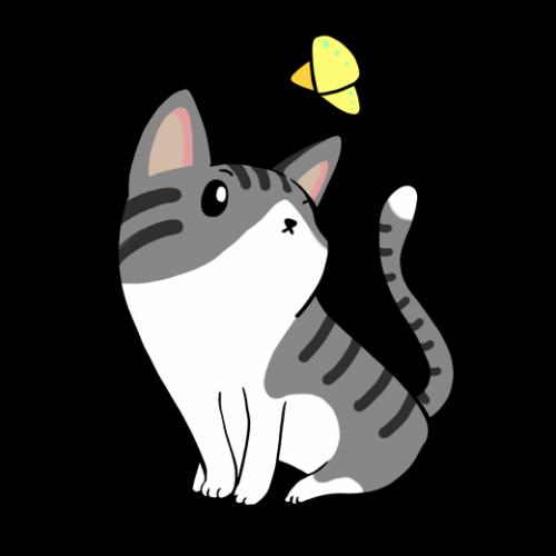 右向きネコ