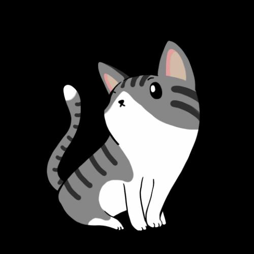 左向きネコ